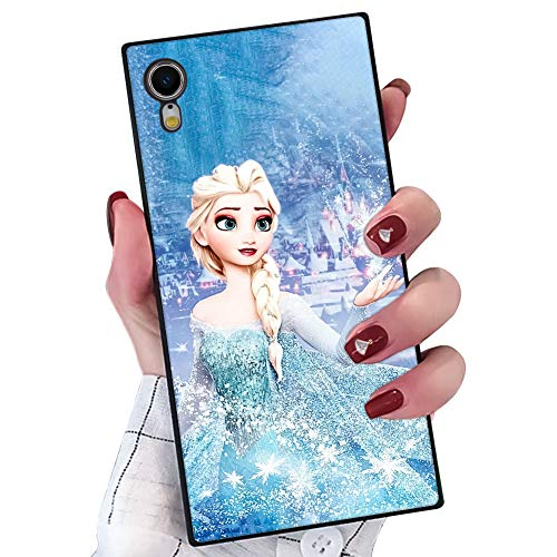 DISNEY COLLECTION Phone Case Compatible iPhone XR Frozen Princess Elegant Chic Square Protective Shockproof Back Cover Case Compatible iPhone XR 6.1 Inch