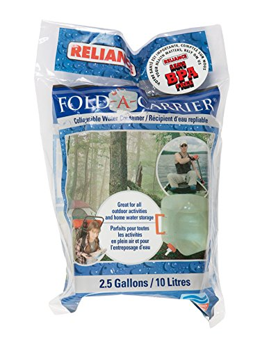Reliance Fold-A-Carrier 2.5 Gallon Collapsable Water Container (Clear, Small)