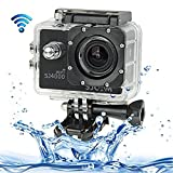 Findway® [New Released SJ4000 Sport Waterproof Diving HD Camera Camcorder] WiFi Action Camera 12MP 1080P H.264 1.5 Inch 170 degree Wide Angle Lens Waterproof Skiing Swimming Diving Sports Action Full HD Camera Camcorder Car DVR