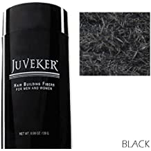 JUVEKER Hair Building Fibers Hair Loss Concealer for Men & Women - 28 Grams / 0.98 oz (BLACK)