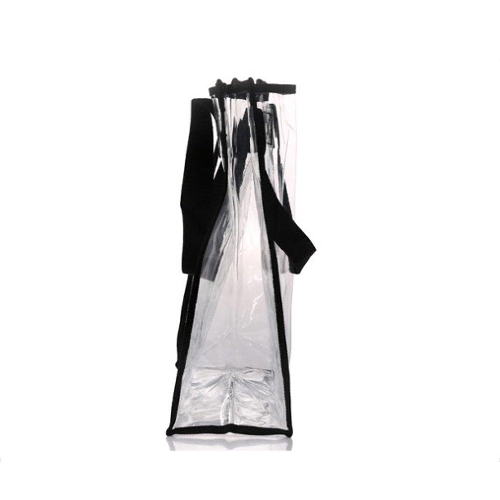 BESTONZON Bolso de hombro claro del bolso del hombro del trabajo de la seguridad del bolso de compras bolso transparente para mujer