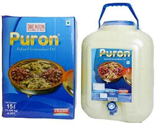Refined Groundnut Oil Puron Jar, 15L