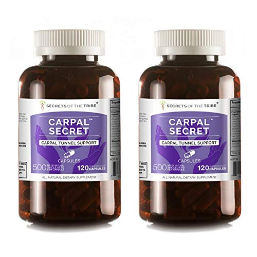 Secrets Of The Tribe – Carpal Secret, Carpal Tunnel Support, Herbal Supplement Blend (2×120 Capsules)