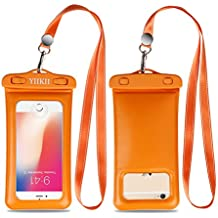 "YIIKII Floating Waterproof Case, Cellphone Dry Bag Pouch with Touch ID Fingerprints Available, IPhone X 8 7 6s 6 Plus, Galaxy etc up to 6.0"", Perfect for Snorkel etc Water Activities"