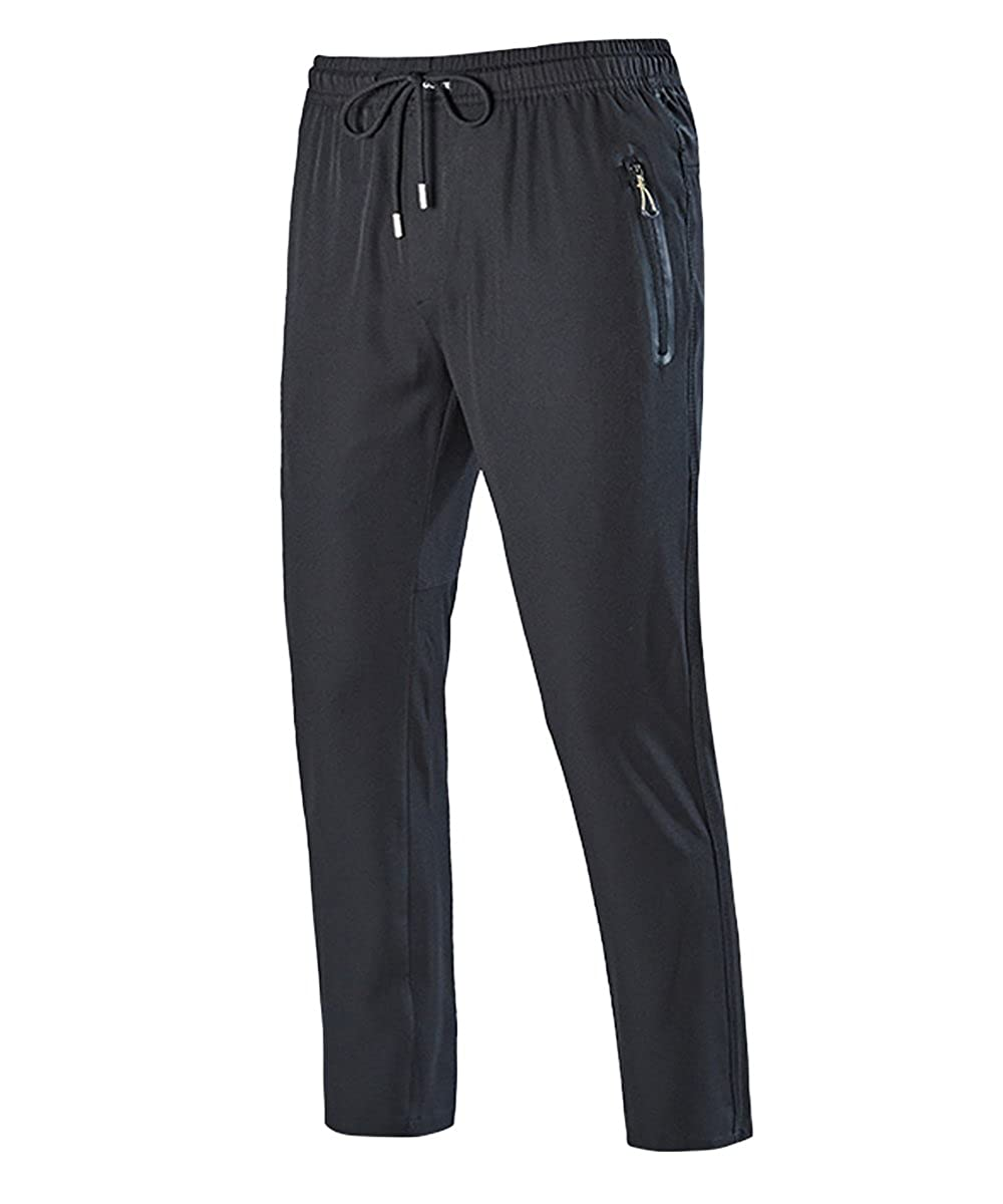 f73f9a2ec9a Top6: EKLENTSON Men\'s Runing Pants Straight Leg Open-Bottom Hiking Gym  Workout Sweatpants with Zipper Pockets