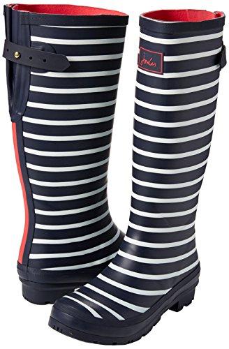 EU EU di Joules Gomma Stripes Stripes Donna Stivali Wellyprint Blau Fnavstp French Navy wHqw6pva