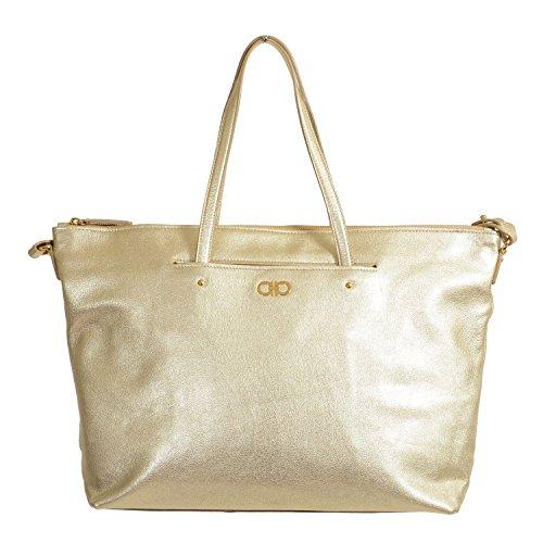 - Salvatore Ferragamo Leather Silver Women's Handbag Shoulder Bag