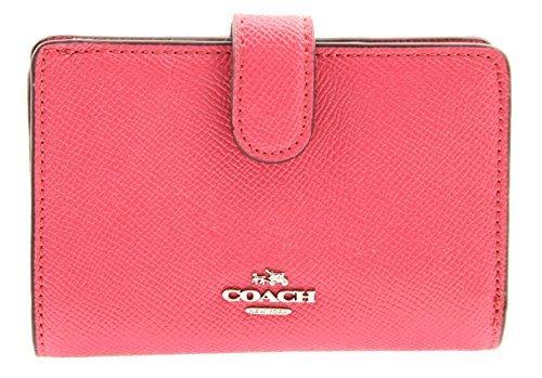COACH Medium Corner Zip Wallet in Magenta