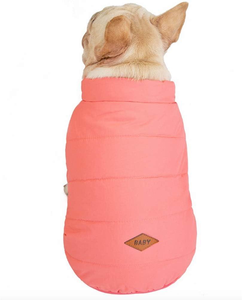 GNYD Maglione Accessori Canottiera per Cappotto per Animali Domestici Calda E Solida per Cani E Animali Eleganti Impermeabile Rosa;L