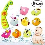 WB WEIRDBEAST Baby BathFishing Toy, Fun Bath Toys for Kids Bath Tub Toys Bath Squirt Toys Fishing Bath Water Toys for Baby Children Kids Toddlers Boys Girls - Fun Bathtime
