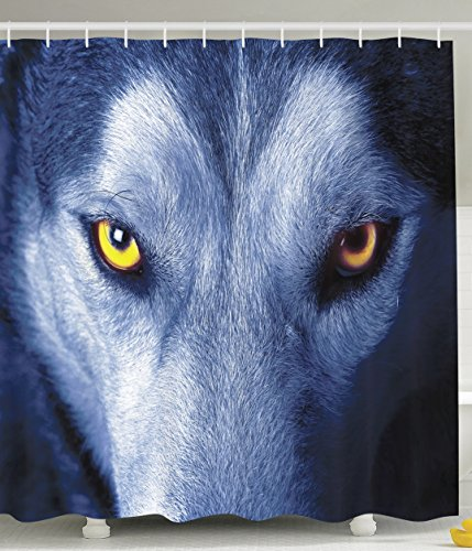 Ambesonne Wildlife Decor Wild Wolf Eyes Fur Wildlife