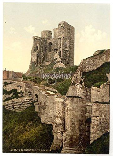 Imagekind Wall Art Print entitled Vintage Photo-Print Scarborough Castle (1900) Alleycatshirts @Zazzle | 23 x 32 - Scarborough Castle