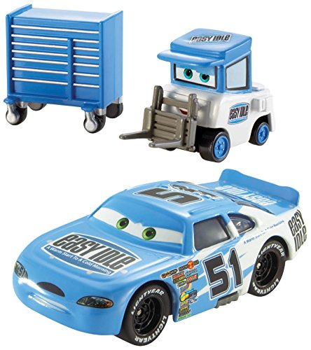 Disney/Pixar Cars, Piston Cup Series, Ruby Easy Oaks and Easy Idle Pitty Die-Cast Vehicles ()