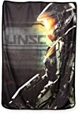 "New Halo Xbox/PS4 UNSC Master Chief Plush Throw Blanket GIFT SOFT Sherpa Video Game 45""x60"""