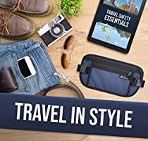 Hidden Travel Wallet and Passport Holder Small Anti Theft Pouch With two adjustable belts for Traveling D/&D RFID Blocking Money Belt for Travel for Men and Women