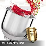 Happybuy Commercial Food Mixer 20Qt 750W 3 Speeds