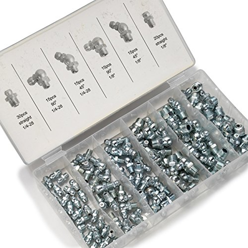 neiko-50463a-sae-hydraulic-grease-fitting-kit-110-piece-straight-and-angled-1-4-1-8