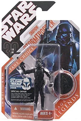 Star Wars 30th Anniversary Saga 2007 Legends Action Figure Shadow Stormtrooper