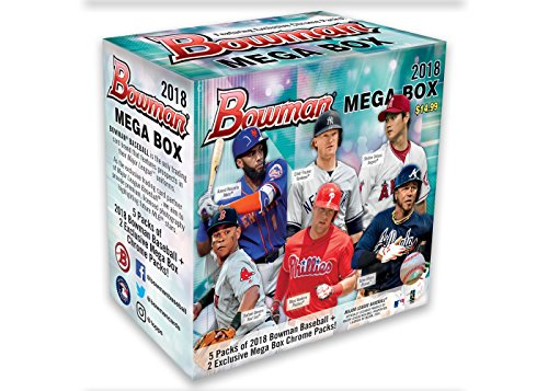 2018 MLB Baseball Trading Card Topps Bowman Mega Box w/Chrome Pack - SOLD (Bowman Chrome Mlb Rookie Card)