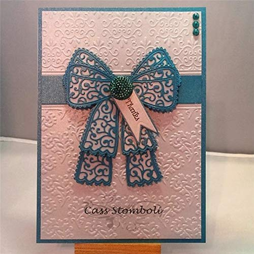 Lace Bow Metal Cutting Dies Scrapbooking New for 2019 Rosette Crafts Dies Bow Die Cuts Card Making Album Embossing ()