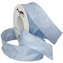 Morex Ribbon 46440/25-121 - 1-1/2-Inch by 27-Yard French Wired Lyon Ribbon Spool, Baby Blue