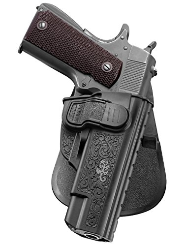 Fobus Holster Gun Pistol Pouch Fits Most Ruger,Sig/Sauer,Smith & Wesson S&W,Taurus,Springfield,Kimber,Colt,Remington 1911 Style Pistols (without rails).