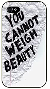 You cannot weight beauty -Grunge notebook sheet - Bible verse iPhone 5 / 5s black plastic case / Christian Verses by icecream design