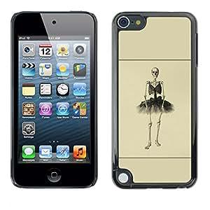 Caucho caso de Shell duro de la cubierta de accesorios de protección BY RAYDREAMMM - Apple iPod Touch 5 - Esqueleto de la bailarina