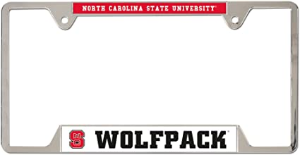 Wincraft NCAA North Carolina State University Metal License Plate Frame 21467012