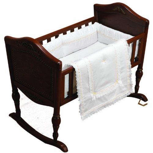 - Baby Doll Bedding Royal Classic Mini Crib/Port-a-Crib Bedding Set, Ecru