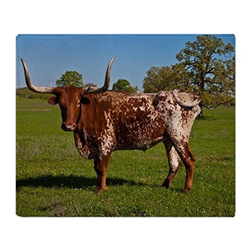 CafePress Texas Longhorn Soft Fleece Throw Blanket, 50