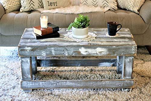 Mesa de palets de madera & Mesa Vintage& Centro hecha con madera ...