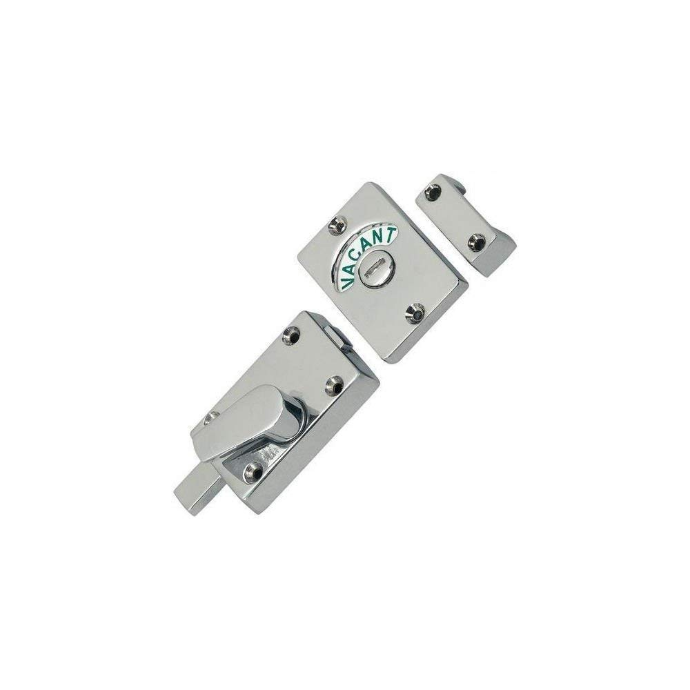 Polished Chrome Bathroom Toilet Lock Indicator Bolt Vacant & Engaged by Dale Hardware Discount Hardware UK 3702