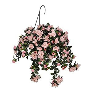 House of Silk Flowers Artificial Pink Azalea Hanging Basket by House of Silk Flowers 63