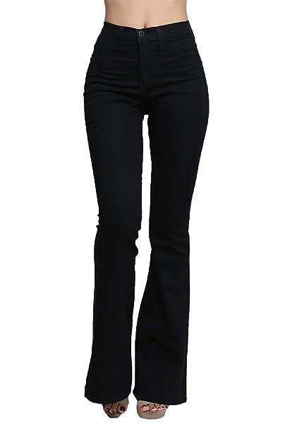 Amazon.com: Vaqueros de mezclilla ajustados con cintura alta ...