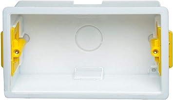 Appleby - Caja de empotrar doble cuadrada, 47 mm, color blanco ...