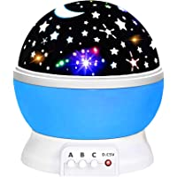 TOP Gift Star Night Light Lamps 360-Degree Rotating for Kids