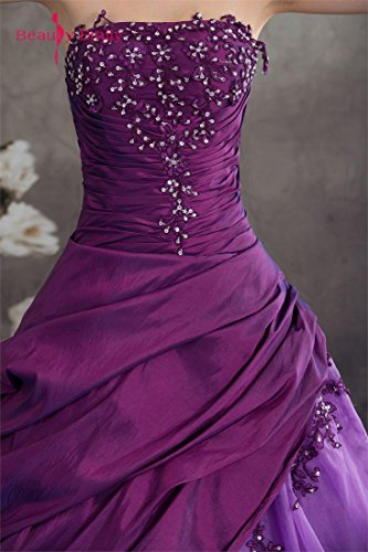 Lace Emily increspa Dress Viola Up Beauty che Tulle senza spalline dHdx1Yq