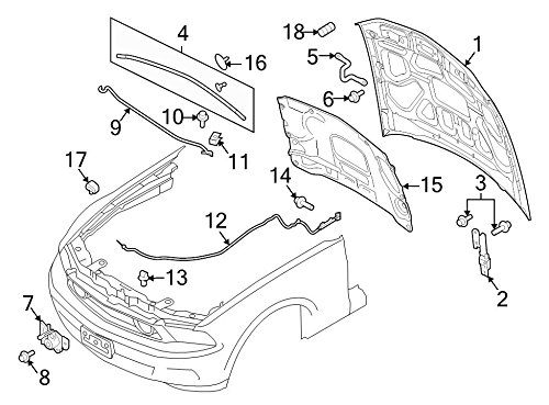 Ford Oem Hood Insulation Pad