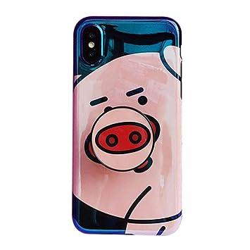 fa14063a66 MOMOCASE iphone 7 8 ケース シリコン tpu ソフトケース スタンド機能 かわいい 豚 個性 韓国風
