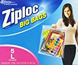 Ziploc Big Bag Double Zipper, Large, 5-Count