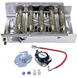 Siwdoy 279838 Dryer Heating Element and 279816 Thermostat Kit for Whirlpool & Kenmore Dryer
