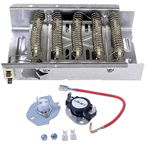 Siwdoy 279838 Dryer Heating Element and 279816 Thermostat Kit Compatible with Whirlpool Dryer (Kenmore Dryer Not Heating And Timer Not Working)