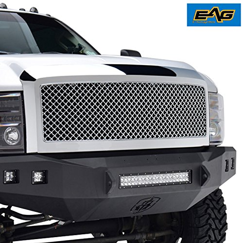 EAG 08-10 Ford F-250/F-350/F-450 Super Duty Replacement Ford Grille Chrome ABS Grill With Shell ()
