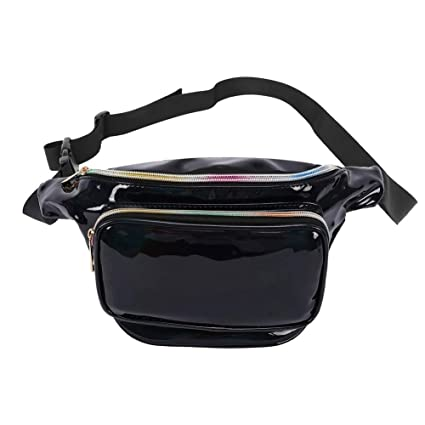 1177726ef13b Futosix Fashion Holographic Fanny Pack for Women Men-Waterproof Travel  Waist Packs Bum Purse Bags for Rave, Festival,Hiking
