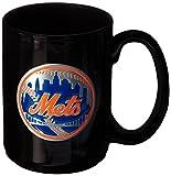MLB Colorado Rockies Two Piece Black Ceramic Mug Set - Primary Logo