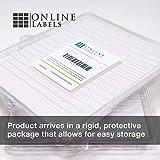 Sticker Paper, 100 Sheets, White Matte, 8.5 x 11