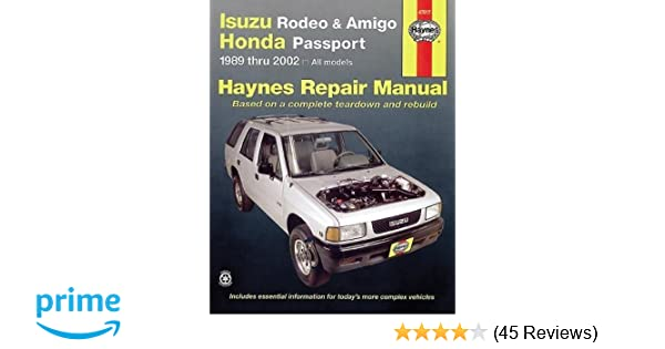 Isuzu rodeo amigo 89 02 haynes manuals haynes repair manuals isuzu rodeo amigo 89 02 haynes manuals haynes repair manuals haynes 9781563924811 amazon books fandeluxe Image collections