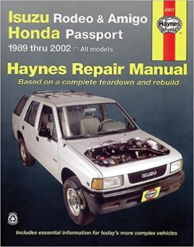 Isuzu rodeo amigo 89 02 haynes manuals haynes repair manuals isuzu rodeo amigo 89 02 haynes manuals haynes repair manuals 1st edition fandeluxe Image collections