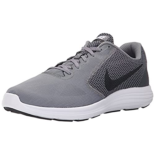 NIKE Men's Revolution 3 Running Shoe, Cool Grey/Black/White, 9 D(M) US